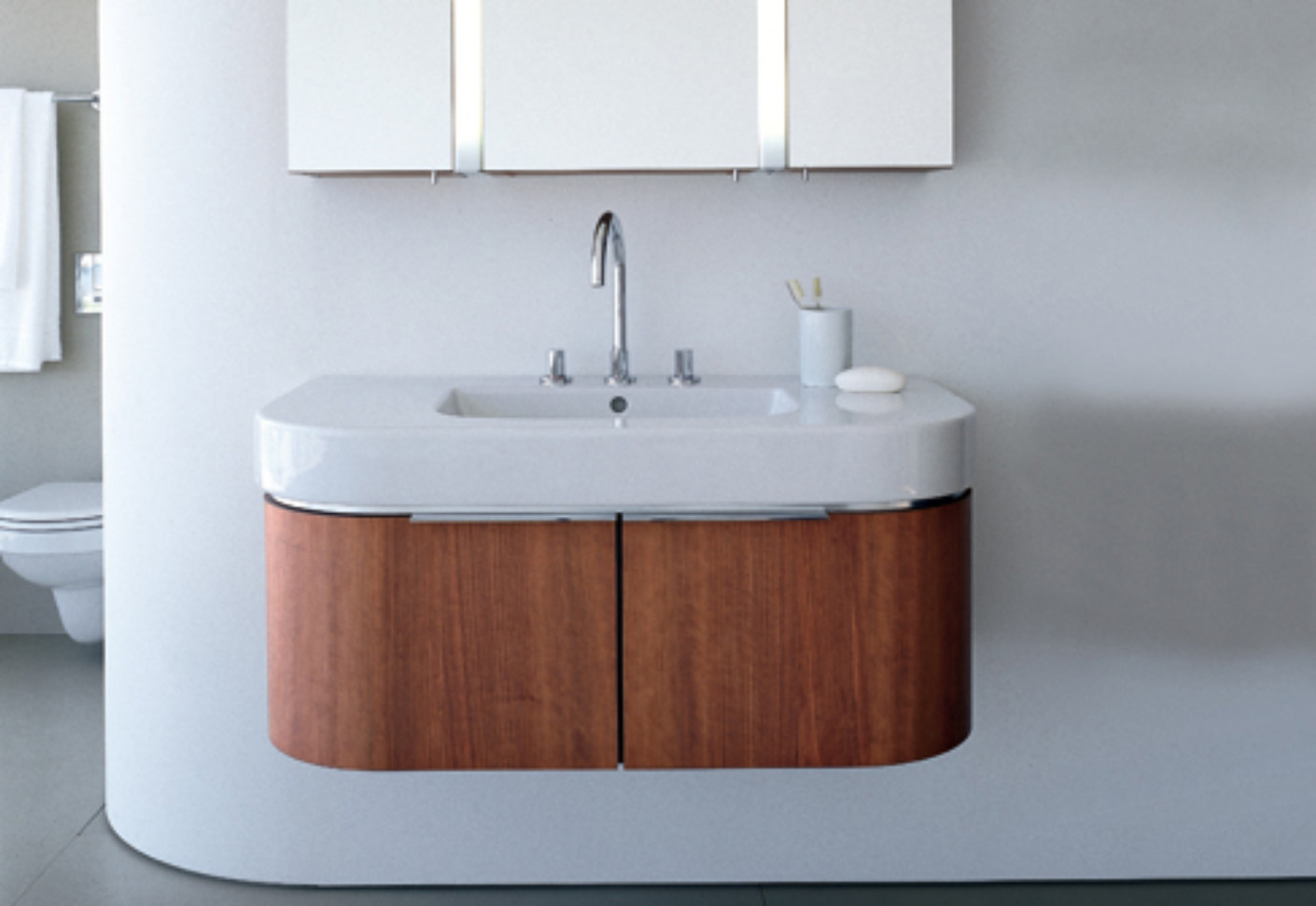 happy d  vanity unit wood by duravit