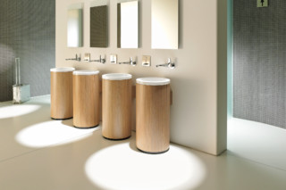 Onto washing basin round  by  Duravit