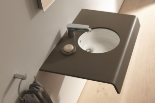Onto washing table round  by  Duravit