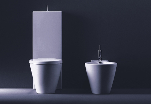 starck 1 stand wc kombination von duravit stylepark. Black Bedroom Furniture Sets. Home Design Ideas