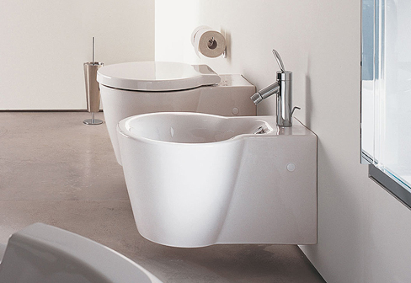 starck 1 wall bidet by duravit stylepark. Black Bedroom Furniture Sets. Home Design Ideas