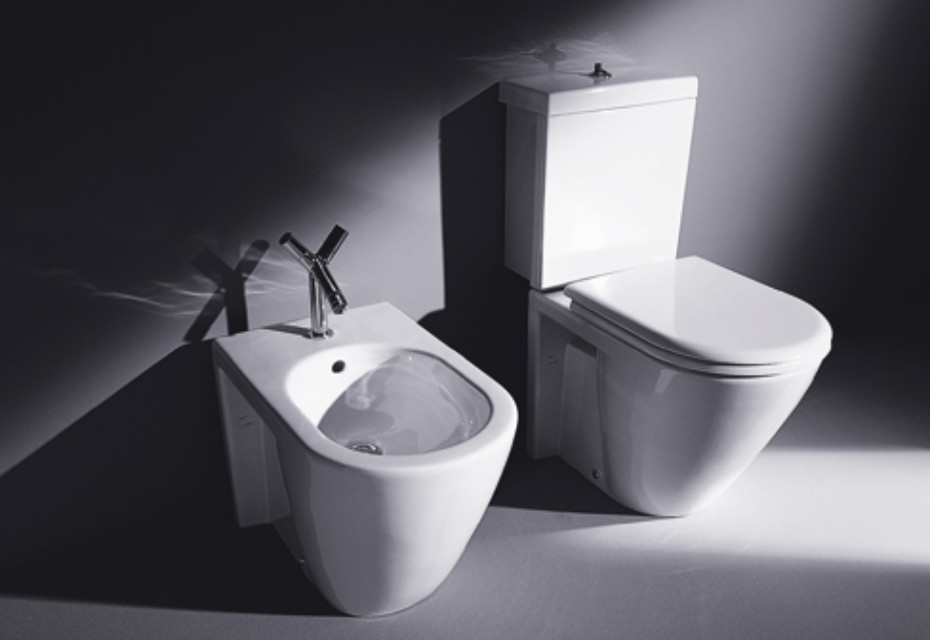 starck 2 stand wc combination by duravit stylepark. Black Bedroom Furniture Sets. Home Design Ideas