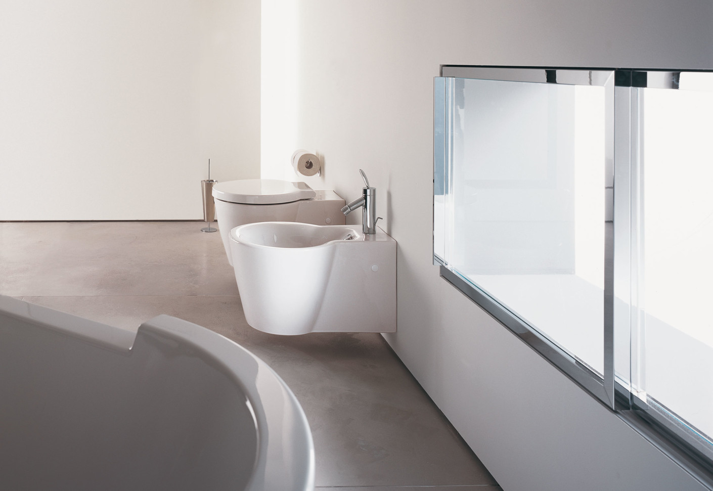 starck 2 wand wc von duravit stylepark. Black Bedroom Furniture Sets. Home Design Ideas