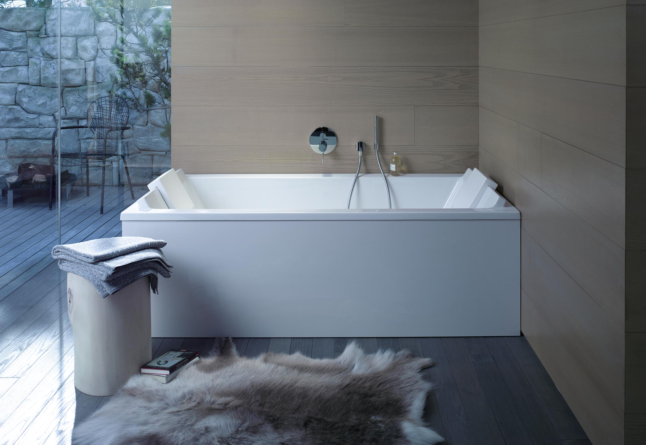 elegant philippe inlays for by x with starck bathroom bathtub sink trench duravit of size full bathtubs tub wooden me