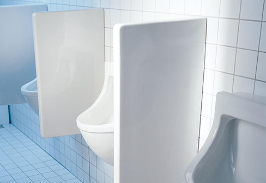 starck 3 urinal trennwand von duravit stylepark. Black Bedroom Furniture Sets. Home Design Ideas