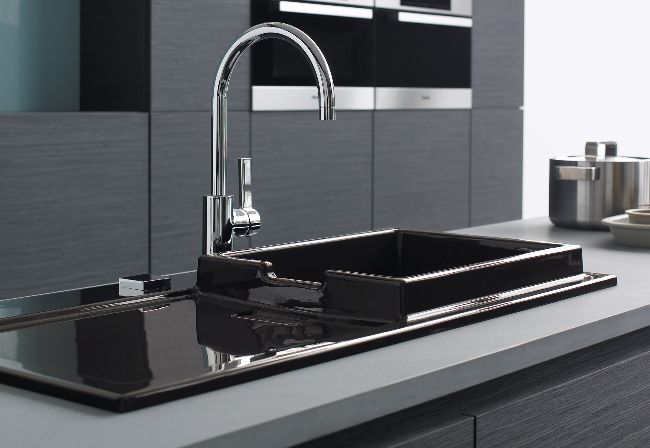starck kitchen sink by duravit stylepark. Black Bedroom Furniture Sets. Home Design Ideas