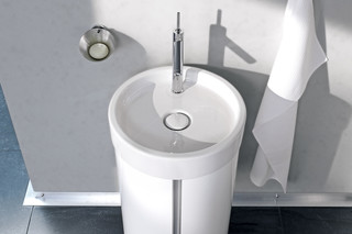 Starck single washing basin round  by  Duravit