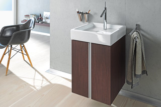 Starck single washing basin square  by  Duravit