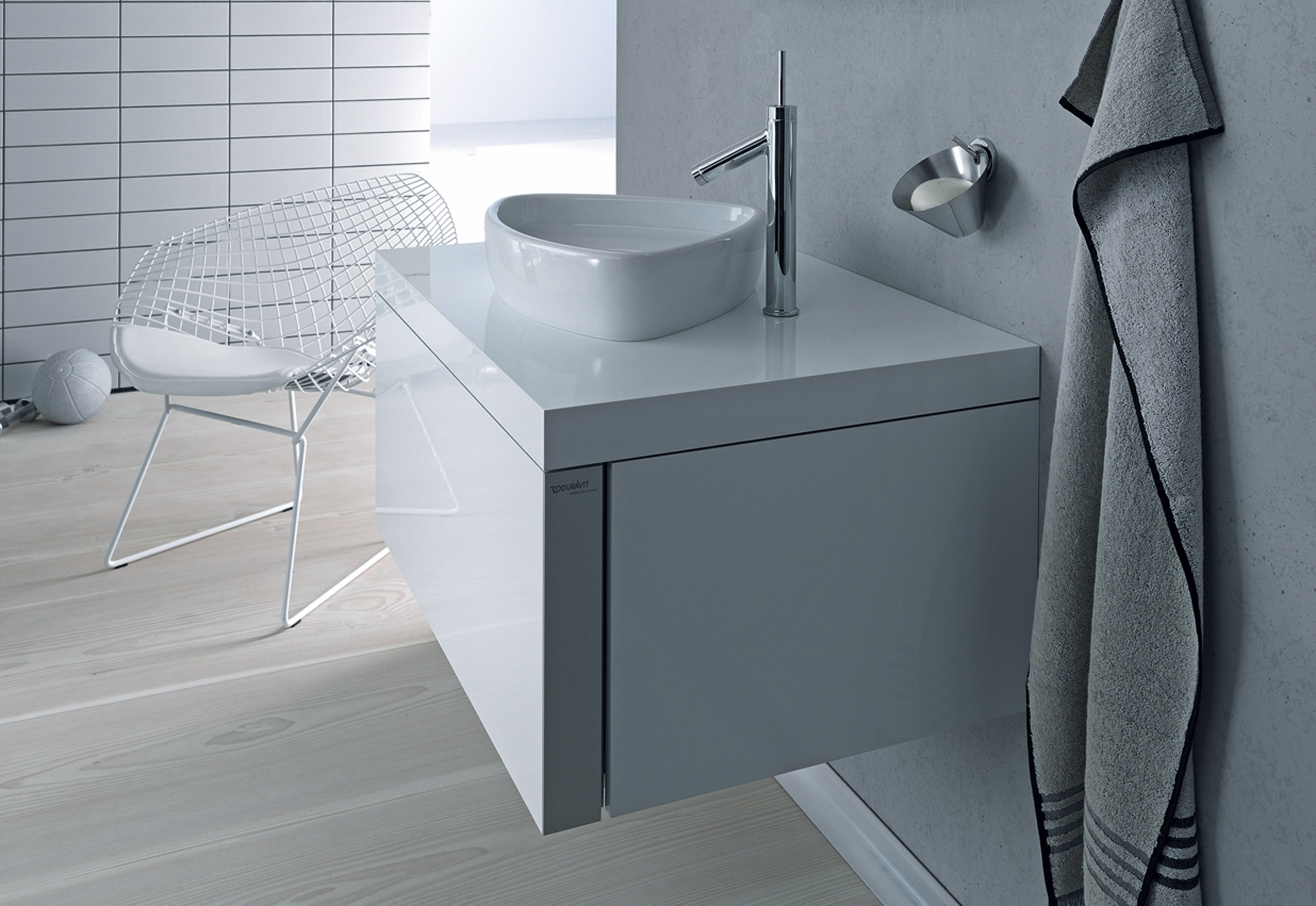 starck single washing basin by duravit stylepark. Black Bedroom Furniture Sets. Home Design Ideas