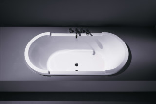 Starck tub built in oval  by  Duravit
