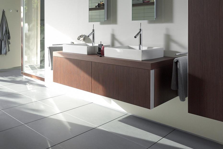Starck washbasin double vanity unit