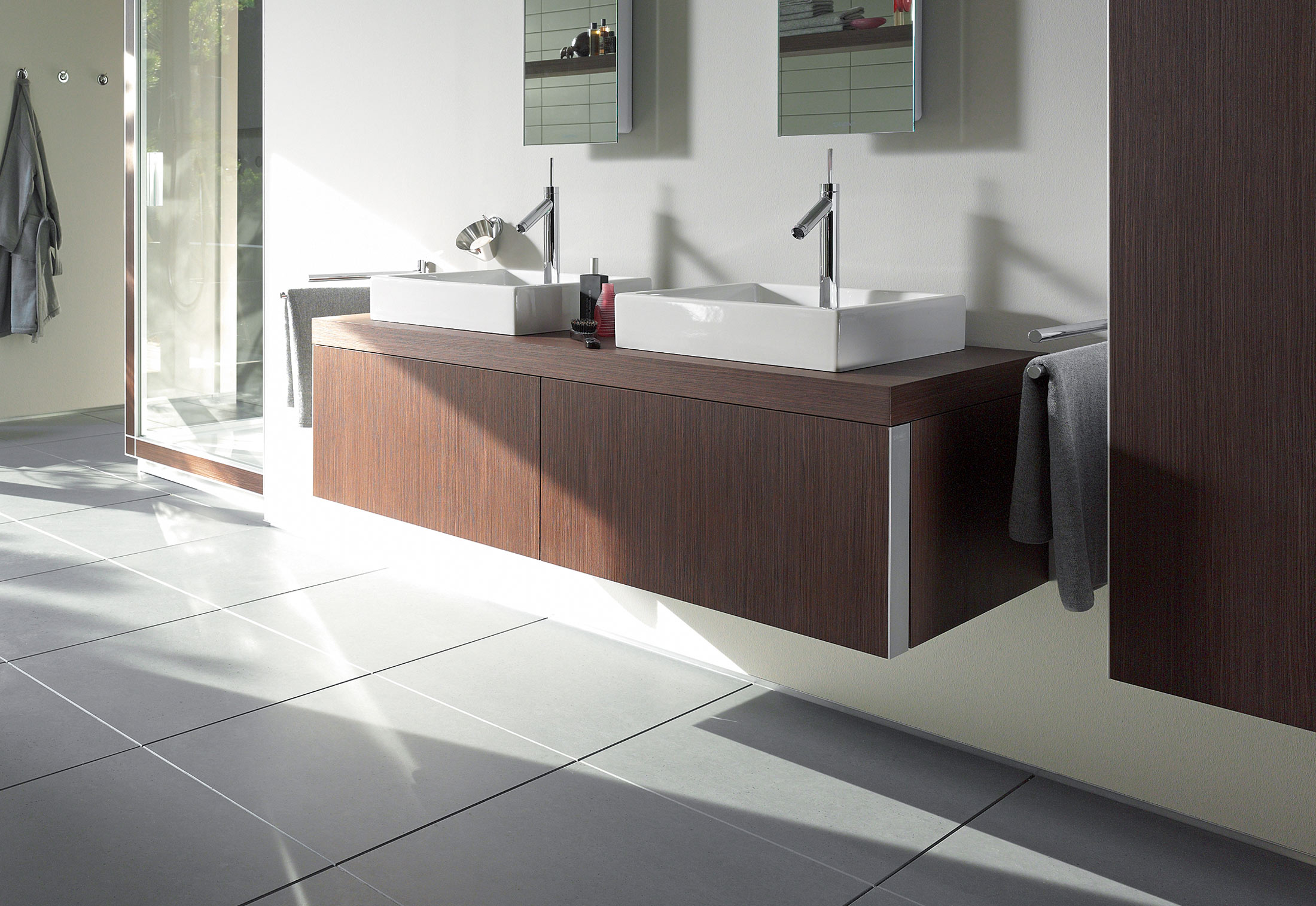 Starck washbasin double vanity unit by Duravit | STYLEPARK