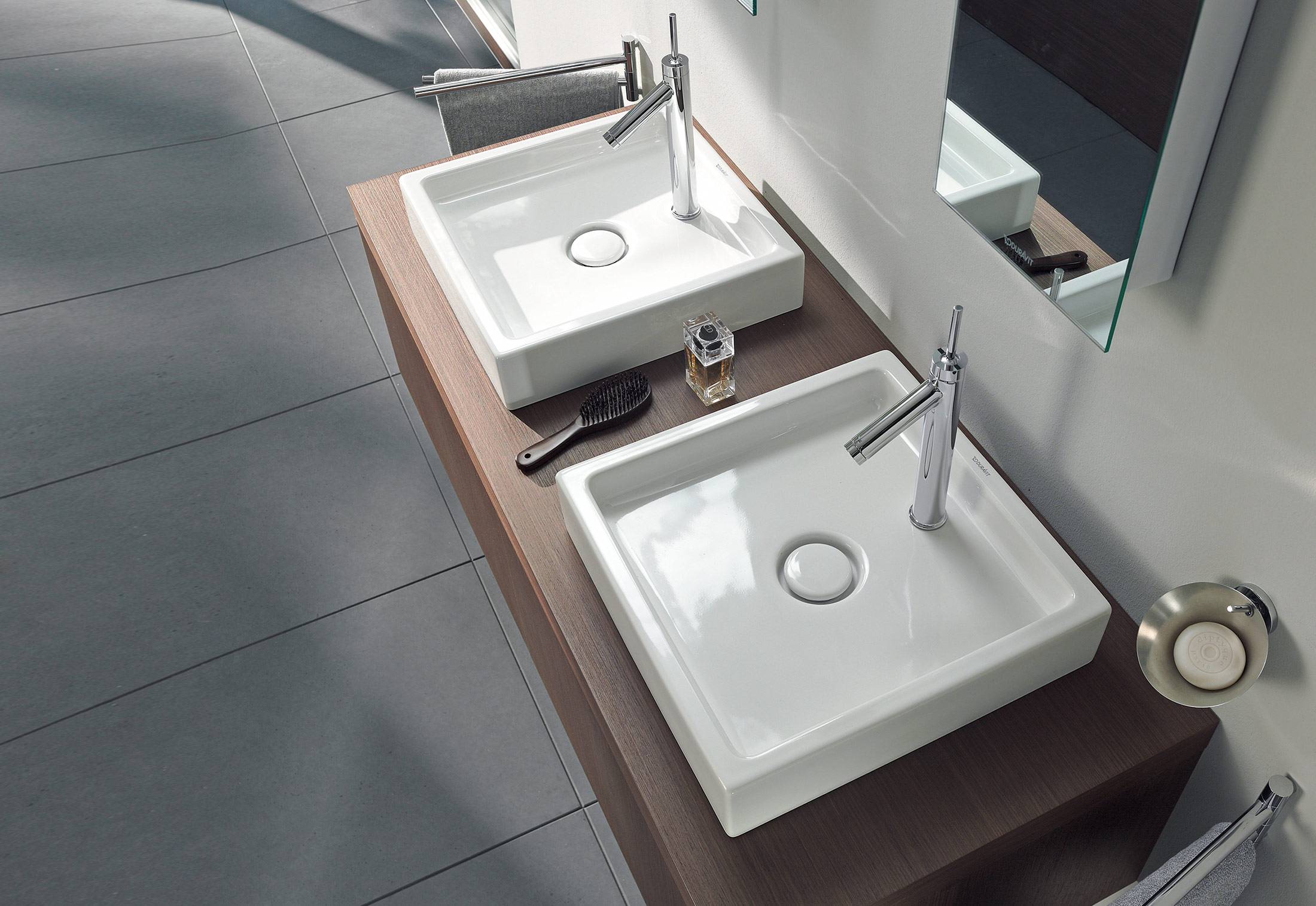 starck washbasin double vanity unit by duravit stylepark. Black Bedroom Furniture Sets. Home Design Ideas