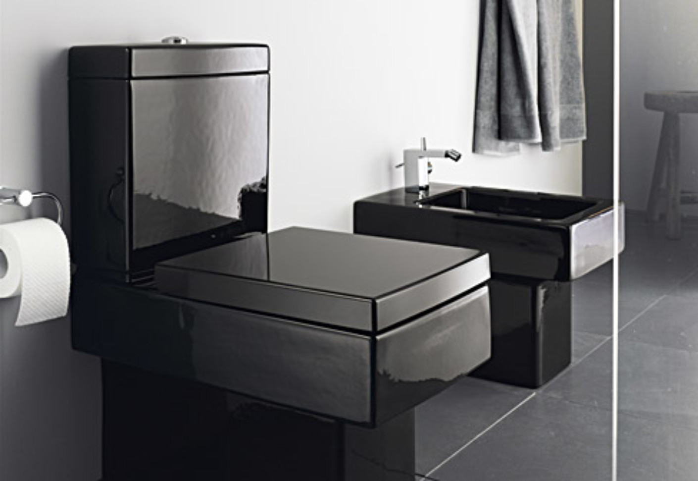 vero black stand wc von duravit stylepark. Black Bedroom Furniture Sets. Home Design Ideas