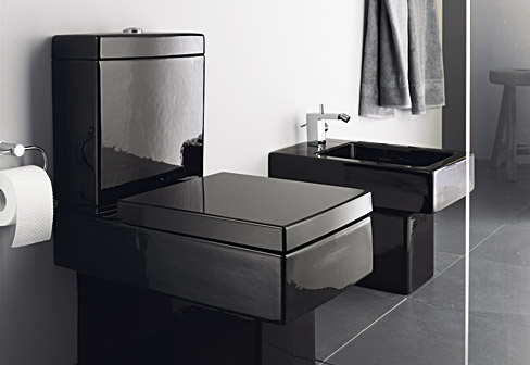 vero black stand toilet by duravit stylepark. Black Bedroom Furniture Sets. Home Design Ideas