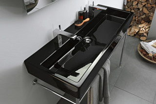 Vero Black washbasin double  by  Duravit