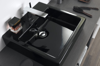 Vero Black washbasin  by  Duravit