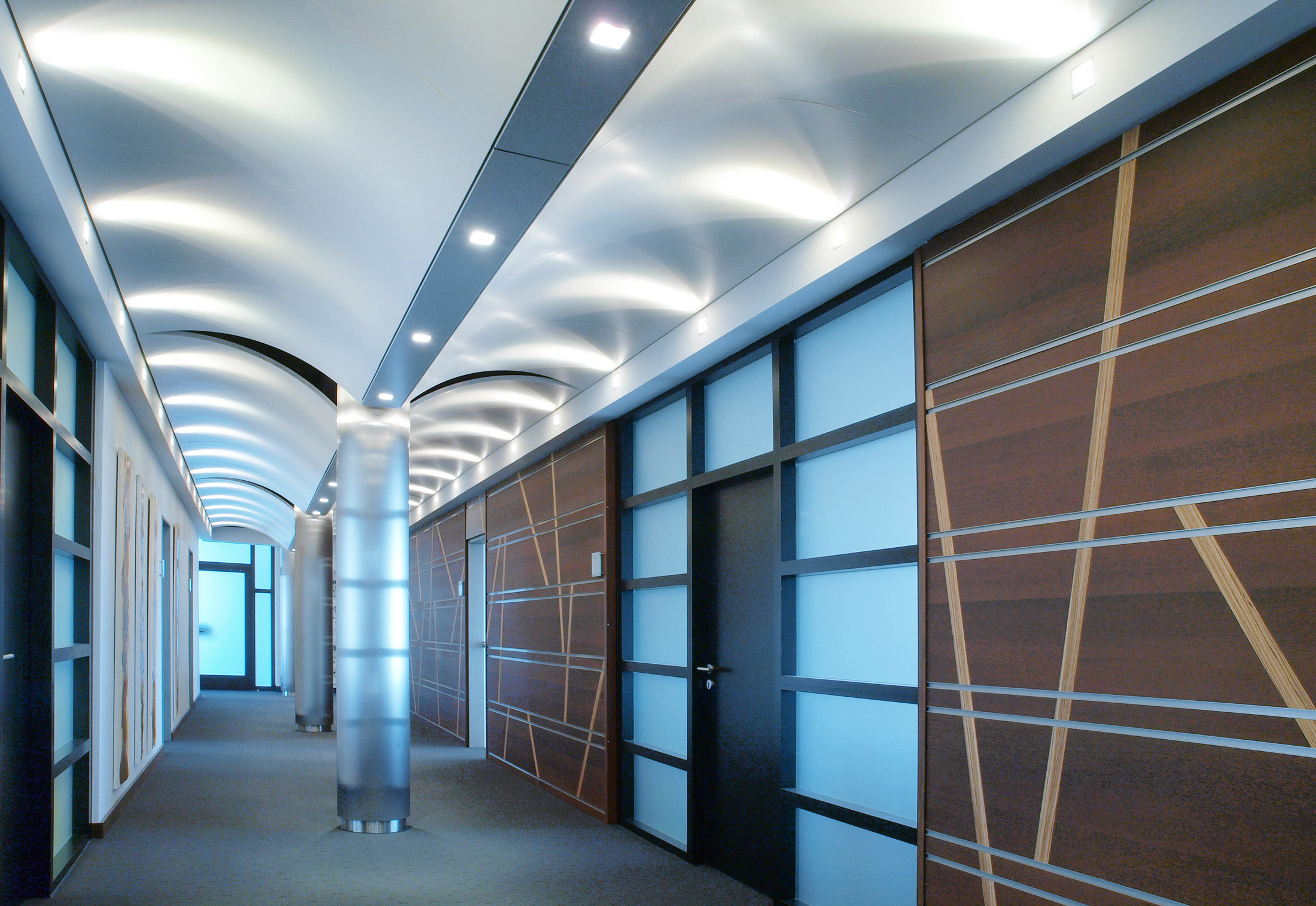 Domus curved ceiling system by durlum stylepark for Domus address