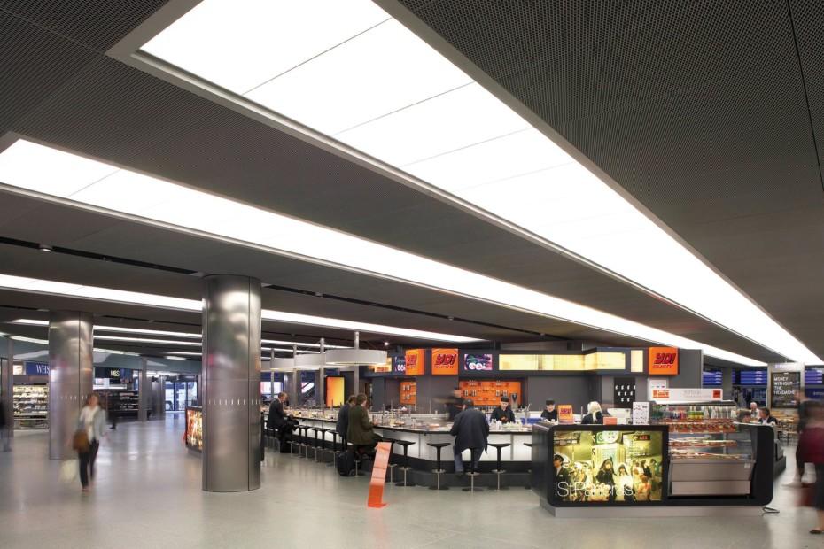 Expanded metal ceilings