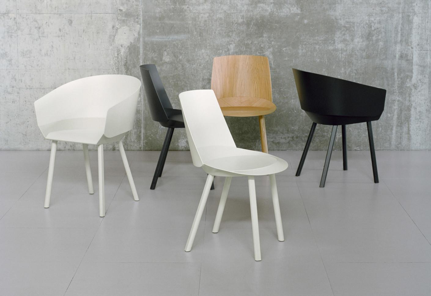 houdini stuhl mit armlehne von e15 stylepark. Black Bedroom Furniture Sets. Home Design Ideas