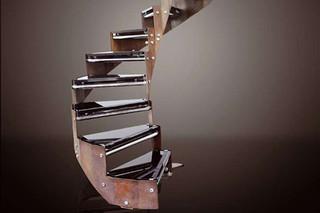 Stairs in steel COR-TEN E-TRC  by  Edilco