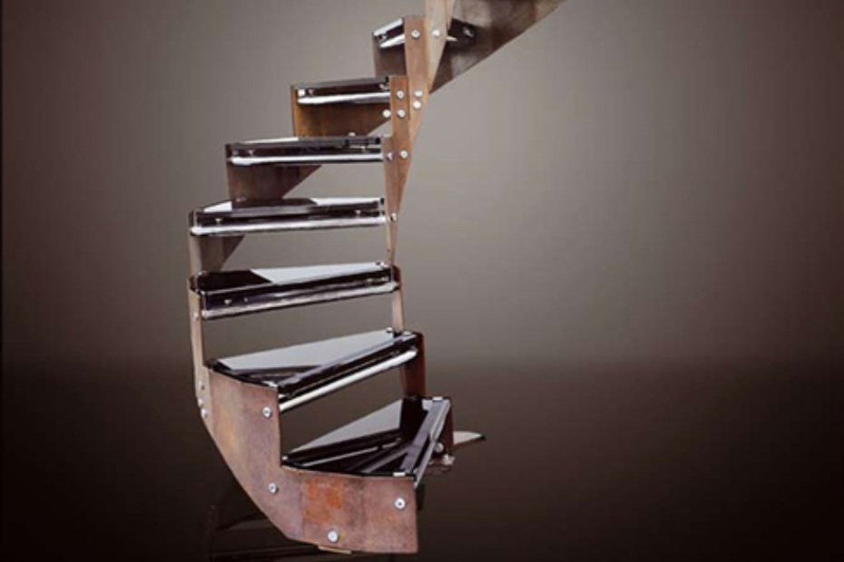 Treppe aus Stahl COR-TEN E-TRC