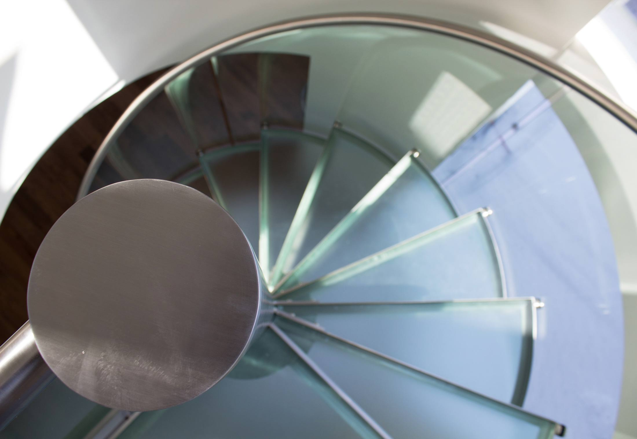 ... Glass Spiral Stairs ...