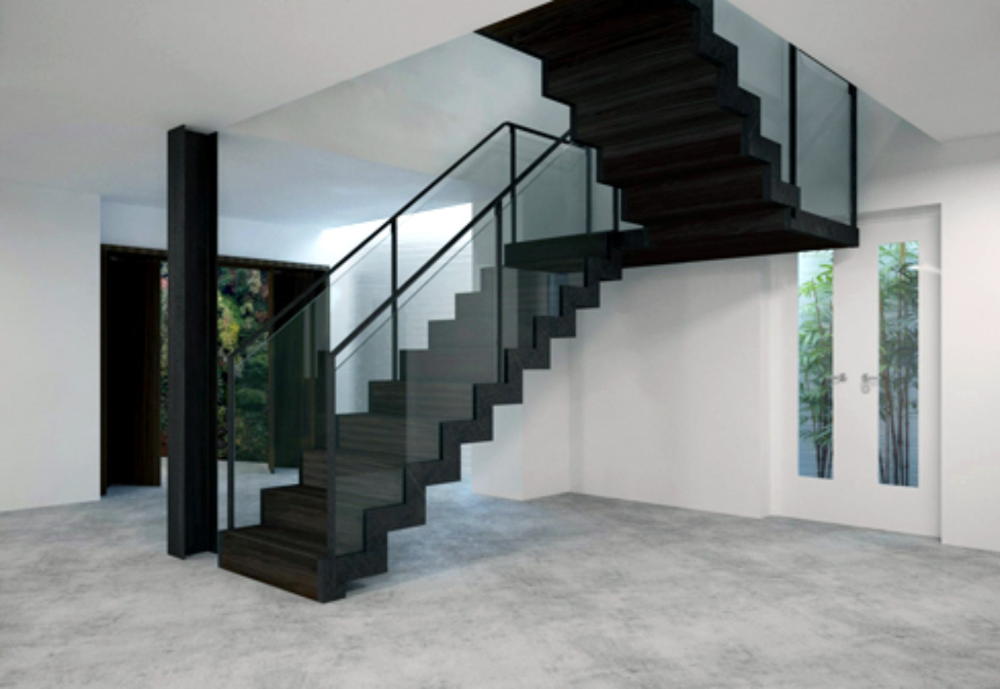 Satin Black Staircase By Eestairs Stylepark