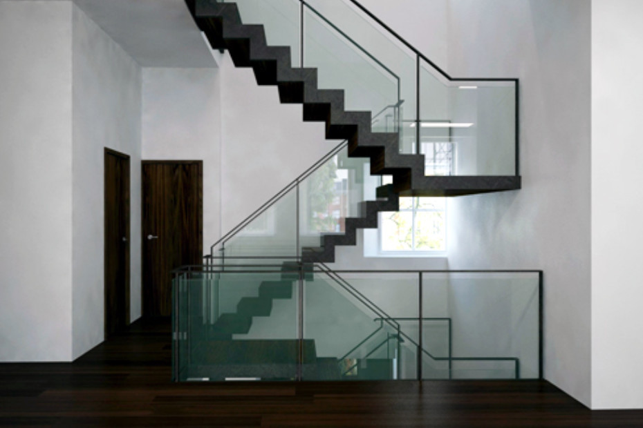 Satin black staircase