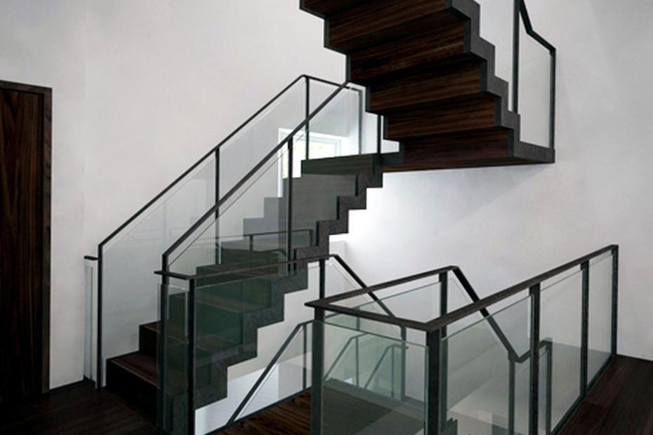 Satin black staircase