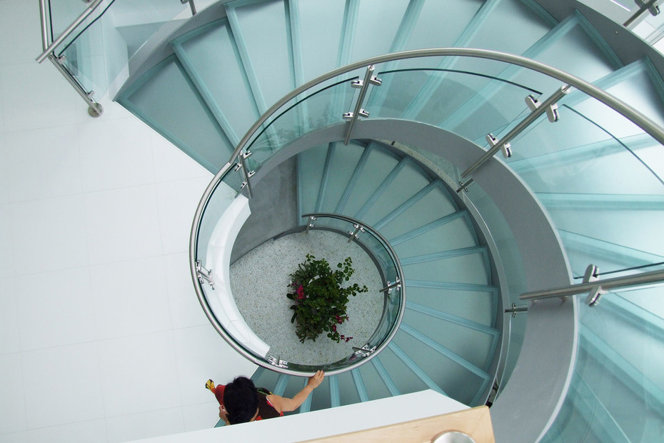 Twin Helical Stairs