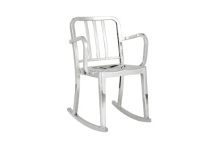 Heritage rocking armchair polished  by  Emeco