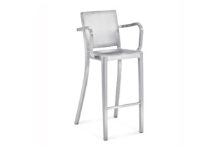 Hudson Bar stool with armrests  by  Emeco