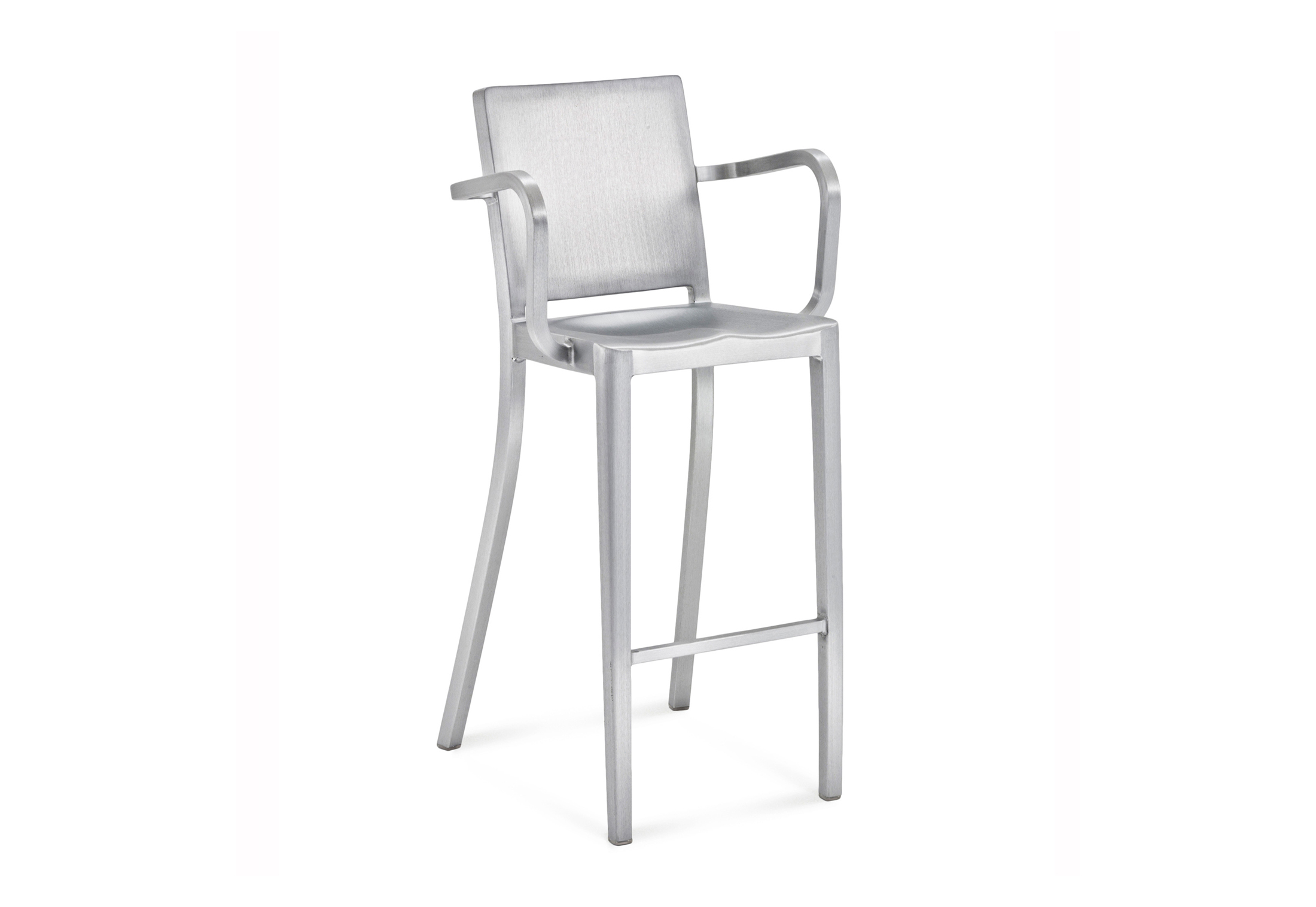 Sensational Hudson Bar Stool With Armrests By Emeco Stylepark Caraccident5 Cool Chair Designs And Ideas Caraccident5Info