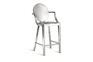 Kong Counter stool with armrests  by  Emeco
