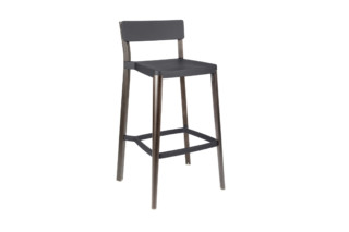 Lancaster Bar stool dark nano coat dark ash  by  Emeco