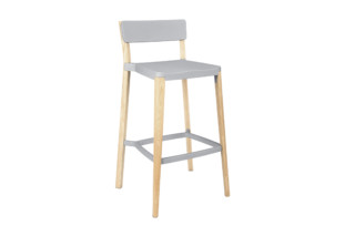 Lancaster Bar stool light nano coat light ash  by  Emeco