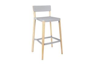 Lancaster Bar stool light nano coat light ash  by  Emeco