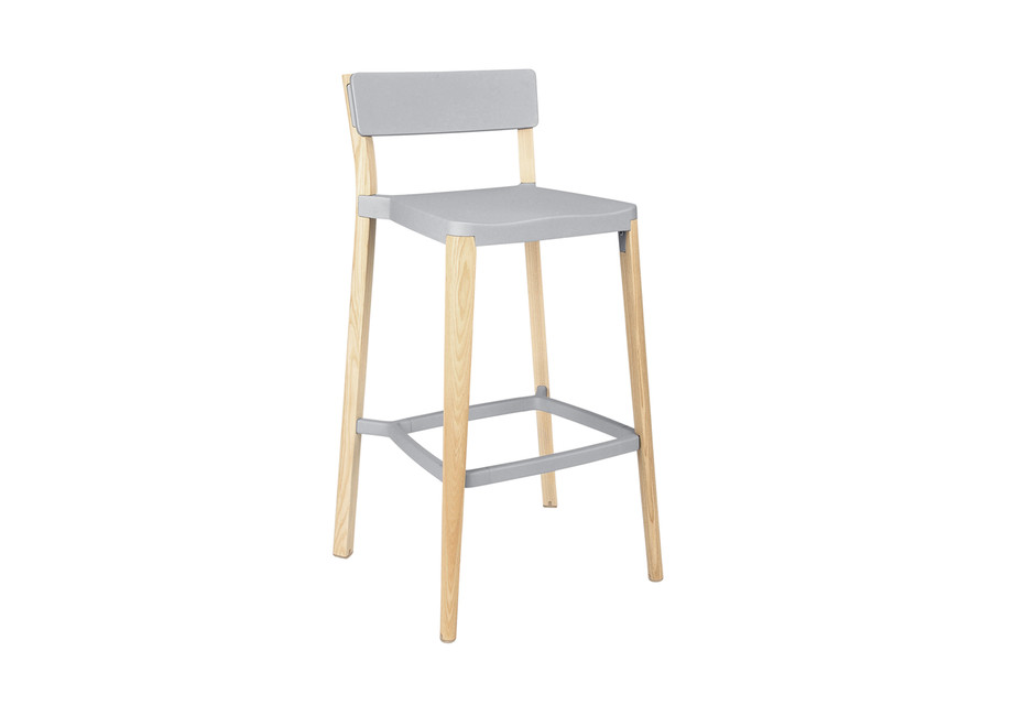 Lancaster Bar stool light nano coat light ash