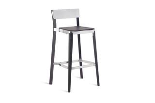 Lancaster Bar stool polished dark wood  by  Emeco