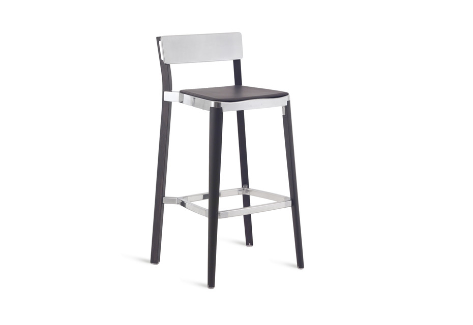 Lancaster Bar stool polished dark wood