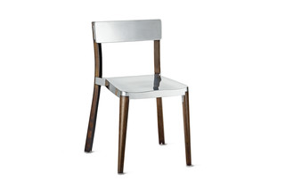 Lancaster Chair dark ash polished aluminum  by  Emeco