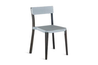 Lancaster Chair light grey dark wood  by  Emeco