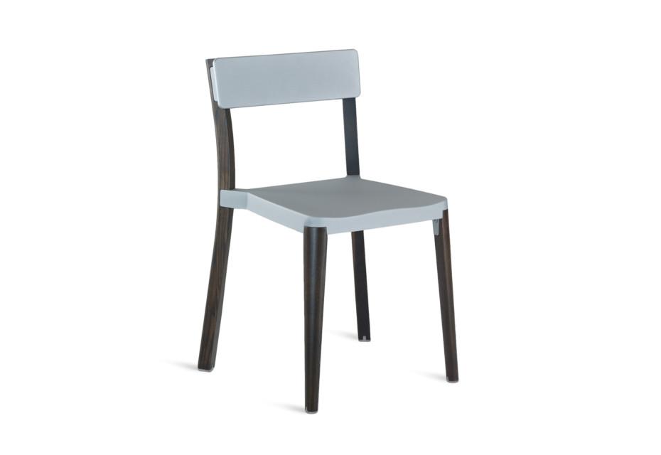 Lancaster Chair light grey dark wood