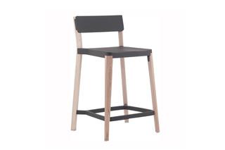 Lancaster Counter stool dark nano coat light ash  by  Emeco