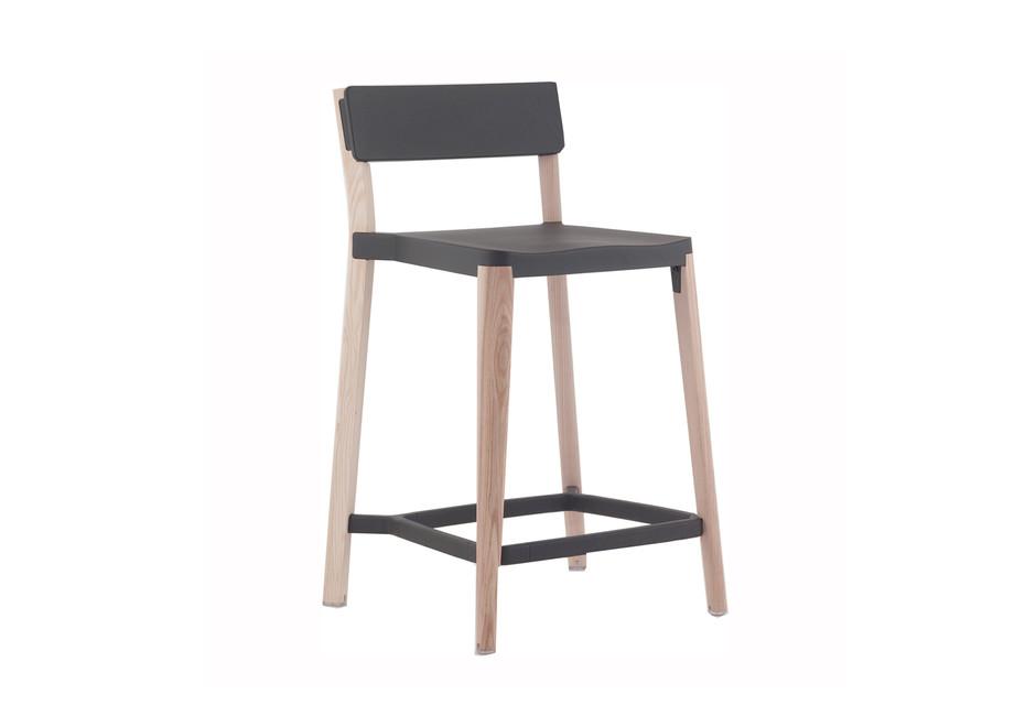 Lancaster Counter stool dark nano coat light ash