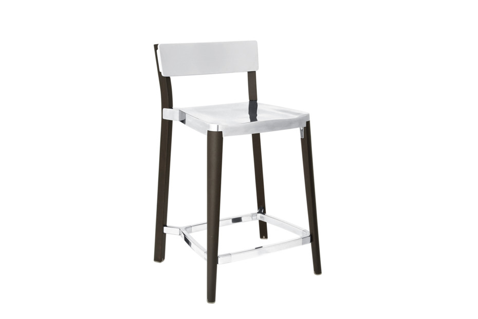 Lancaster Counter Stool Polished Dark Ash By Emeco Stylepark
