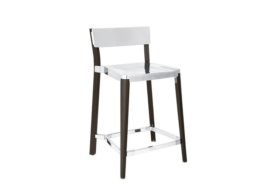 Lancaster Counter stool polished dark ash