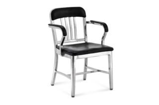 Navy® Sessel halb-gepolsterter polierter  von  Emeco