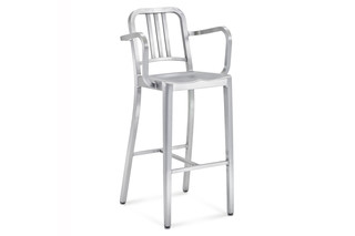 Navy® Bar stool with armrests  by  Emeco